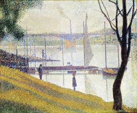 「クールブヴォワの橋」(1886年-87年)ジョルジュ・スーラ
