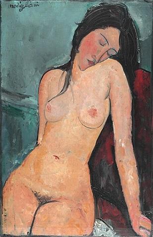 「裸婦」(1916年)アメデオ・モディリアーニ