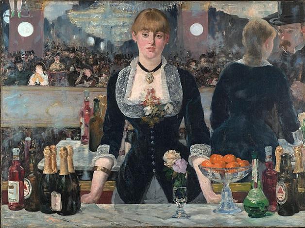「フォリー=ベルジェールのバー」(1882年)エドゥアール・マネ