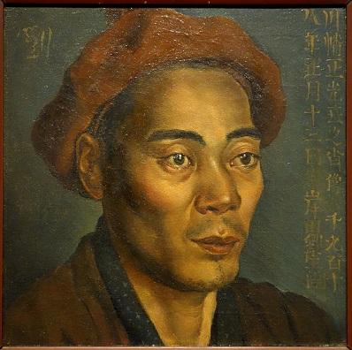 「川幡正光氏之肖像」(1918年1月13日)岸田劉生