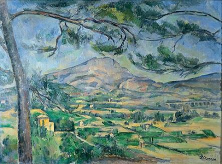 「大きな松のあるサント=ヴィクトワール山」(1887年)ポール・セザンヌ