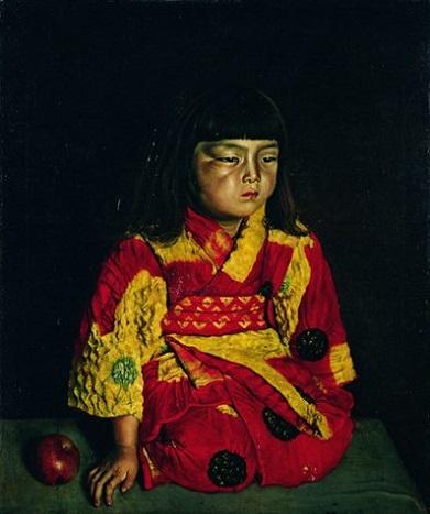 「麗子坐像」(1919年8月23日)岸田劉生