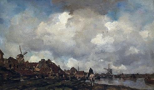 「スキーダム近くの村」ヤコブ・マリス