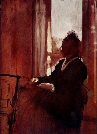 「窓辺の女」(1871年-72年)エドガー・ドガ