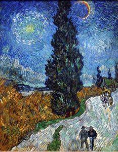「糸杉と星の見える道」(1890年)フィンセント・ファン・ゴッホ