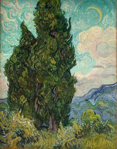 「糸杉」(1889年)フィンセント・ファン・ゴッホ