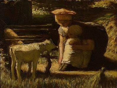「出会い(仔ヤギ)」(1865-66年)マテイス・マリス