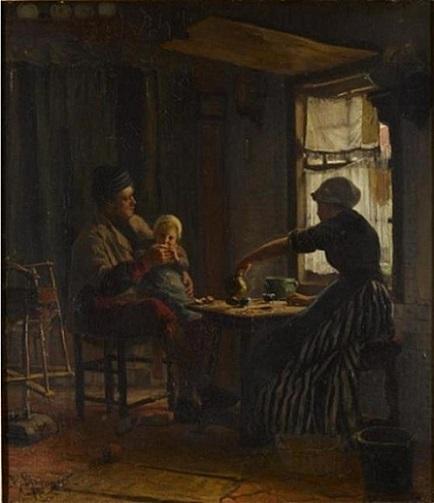「室内」(1872年)ベルナルデュス・ブロンメルス