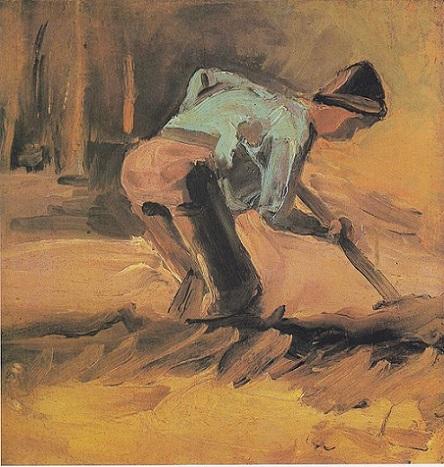 「耕す人」(1882-83年)フィンセント・ファン・ゴッホ