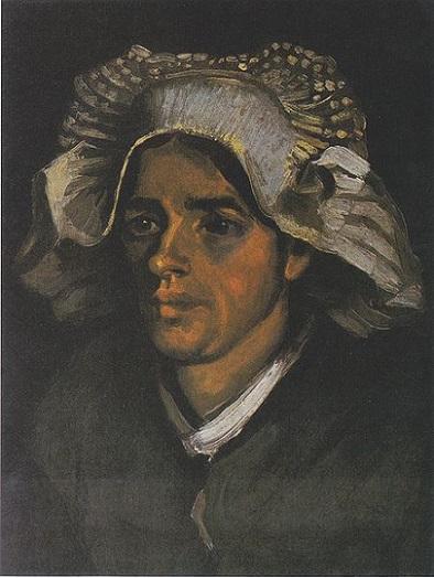 「農婦の頭部」(1885年)フィンセント・ファン・ゴッホ