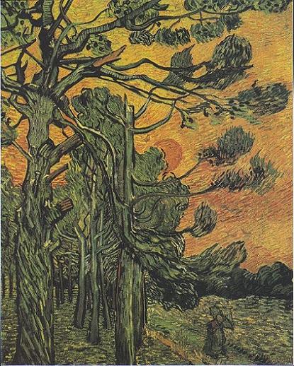 「夕暮れの松の木」(1889年)フィンセント・ファン・ゴッホ