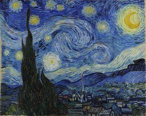 「星月夜」(1889年)フィンセント・ファン・ゴッホ