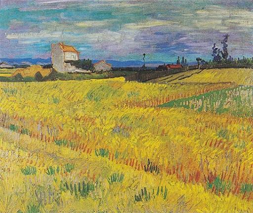 「麦畑」(1888年)フィンセント・ファン・ゴッホ