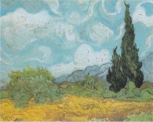 「糸杉のある小麦畑」(1889年)フィンセント・ファン・ゴッホ