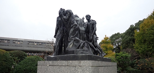 「カレーの市民(Burghers of Calais)」…国立西洋美術館にて