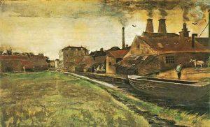 「ハーグの鉄工所」(1882年)ファン・ゴッホ