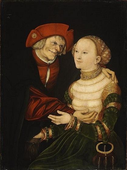 「老人と若い女」(1522年)ルカス・クラーナハ