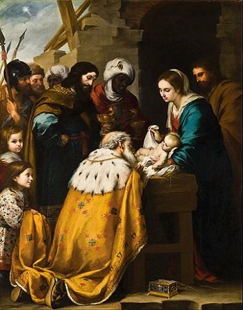 「東方三博士の礼拝」(1655年₋1660年)バルトロメ・エステバン・ムリーリョ