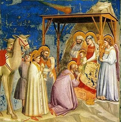 「東方三博士の礼拝」(1305年頃)ジョッ・ディ・ボンドーネ