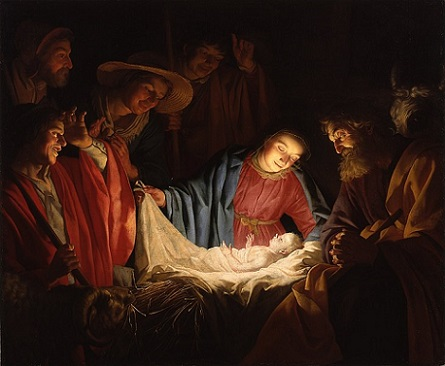 「Adoration of the Shepherds」(1622年頃)ヘラルト・ファン・ホントホルスト