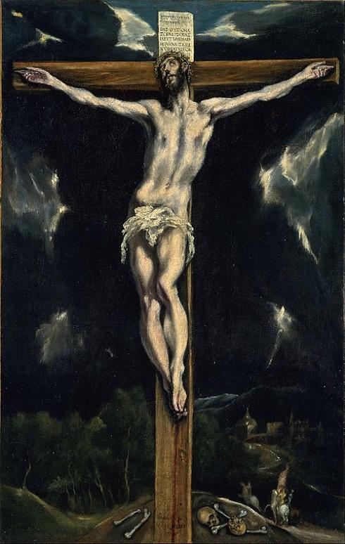 「十字架のキリスト」(1610年頃)エル・グレコ