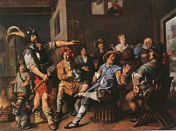 「聖ペテロの否認」(1633年)ヤン・ミーンセ・モレナール