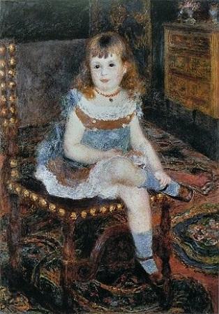 「すわるジョルジェット・シャルパンティエ嬢」(1876年)ルノワール