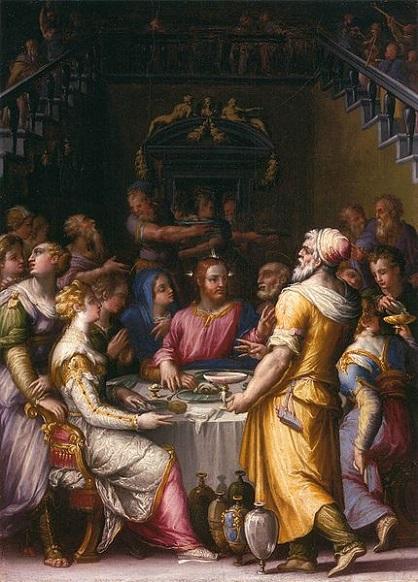 「カナの婚礼」(1566年)ジョルジョ・ヴァザーリ