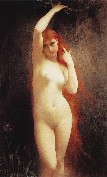 「オンディーヌ」(1881年)ジュール・ジョゼフ・ルフェーブル