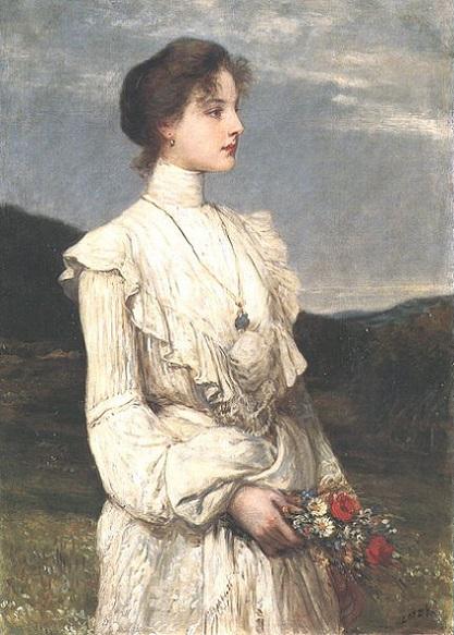「春 ー リッピヒ・イロナの肖像」(1894年)ロツ・カーロイ