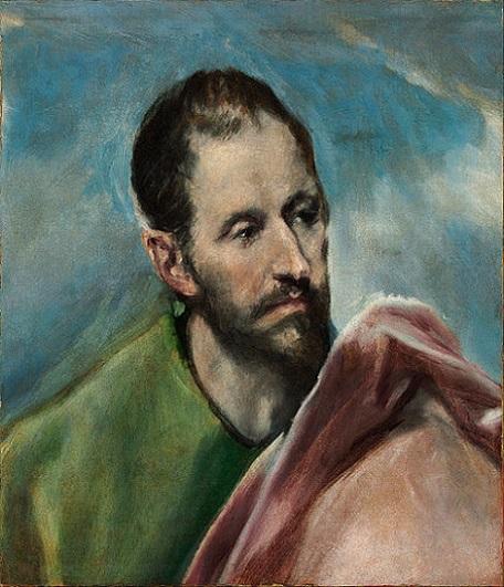 「聖小ヤコブ(男性の頭部の習作)」(1600年頃)エル・グレコ