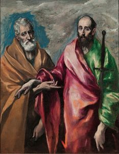 「聖ペテロと聖パウロ」(1590‐1600年)エル・グレコ