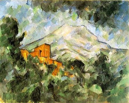 「サント=ヴィクトワール山とシャトー・ノワール」(1904-06年頃)ポール・セザンヌ