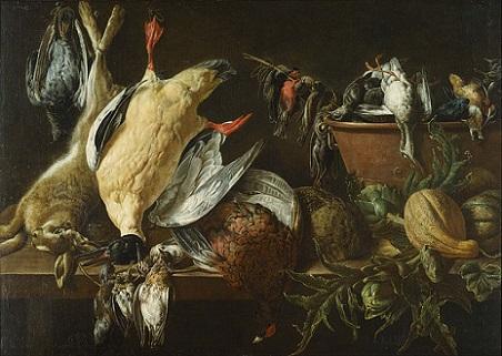 「猟の獲物と野菜のある静物」(1648年)アドリアーン・ファン・ユトレヒト