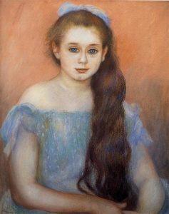 「シュザンヌ・アダン嬢の肖像」(1887年)オーギュスト・ルノワール