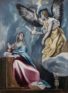 「受胎告知」(1595‐1600年頃)エル・グレコ