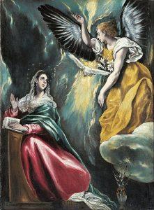 「受胎告知」(1590‐1603年)エル・グレコ