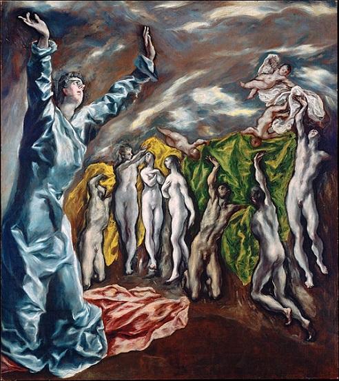 「第五の封印」(1608‐1614年)エル・グレコ