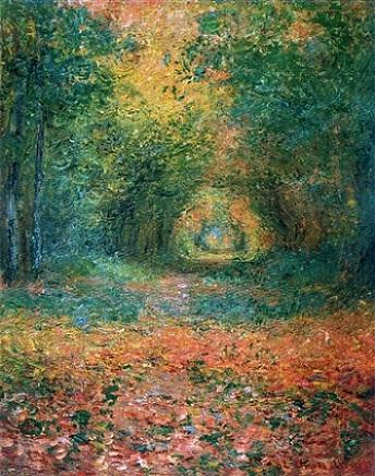 「サン=ジェルマンの森の中で」(1882年)クロード・モネ