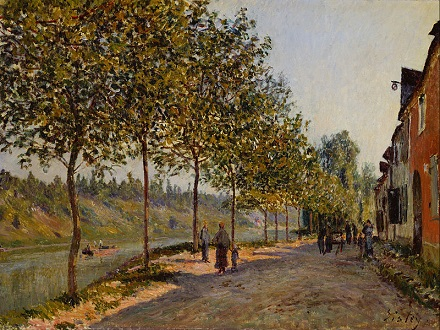 「サン=マメス六月の朝」(1884年)アルフレッド・シスレー