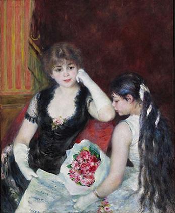 「劇場の桟敷席」(1880年頃)オーギュスト・ルノワール