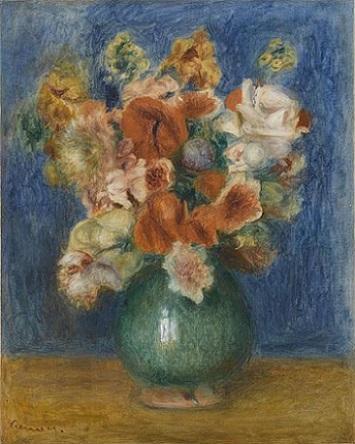 「花束」(1900年頃)オーギュスト・ルノワール