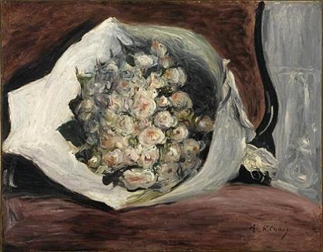 「桟敷席の花束」(1878-1880年頃)オーギュスト・ルノワール