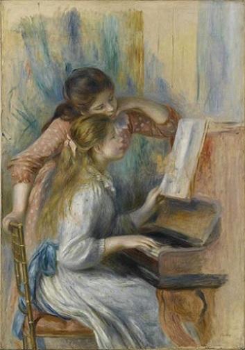 「ピアノを弾く少女たち」(1892年頃)オーギュスト・ルノワール