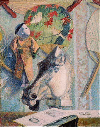 「馬の頭部のある静物」(1886年)ポール・ゴーガン