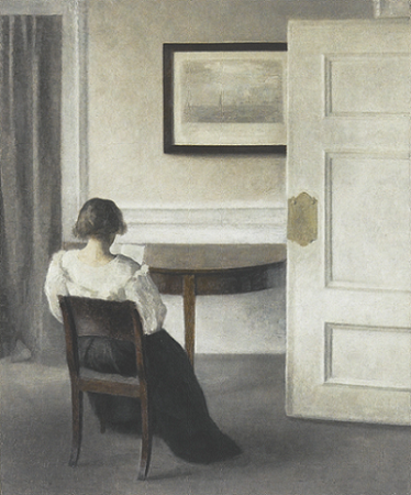 「Ida in an interior」(1893年)Vilhelm Hammershøi