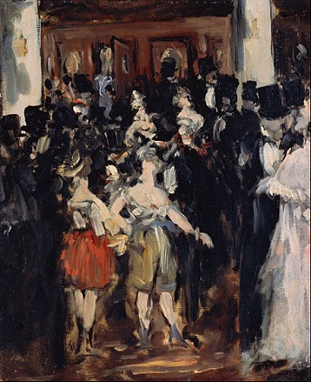 「オペラ座の仮装舞踏会」(1873年)エドゥアール・マネ