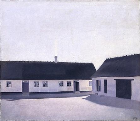 「農場の家屋、レスネス」(1900年)ヴィルヘルム・ハマスホイ