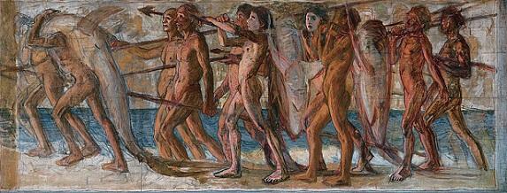 「海の幸」(1904年)青木繁