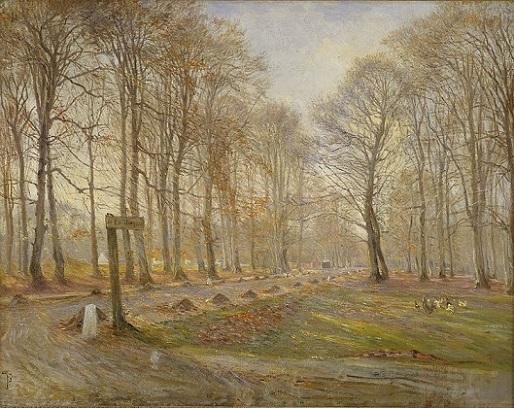 「晩秋のデューアヘーヴェン森林公園」(1886年)ティーオド・フィリプスン